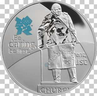 Statue Of Winston Churchill Coin Set Five Pounds Royal Mint PNG