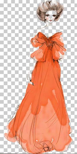 Watercolor: Flowers Dress Woman PNG