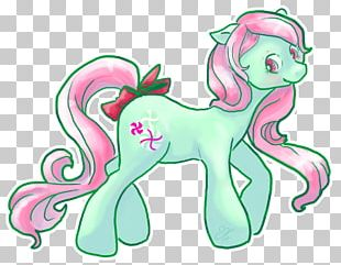Horse Line Art Green PNG