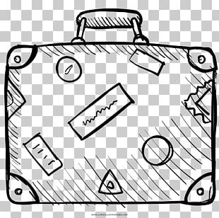 Suitcase Travel Coloring Book Drawing Baggage PNG
