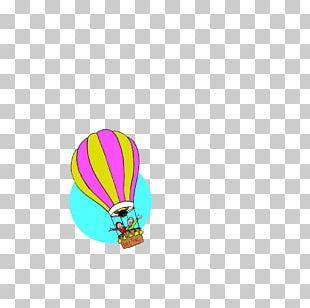 Hot Air Balloon Paper Sticker PNG