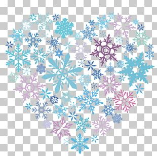 Snowflake Crystal Winter Color PNG
