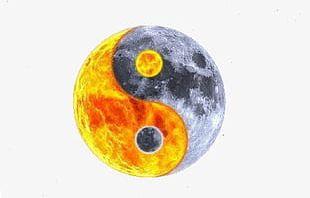 Yin And Yang Fish Planet Effect PNG