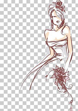 Drawing Bride Illustration PNG
