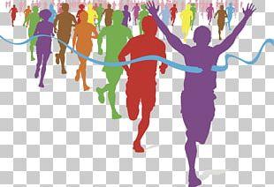 The Color Run Running Fun Run Racing PNG