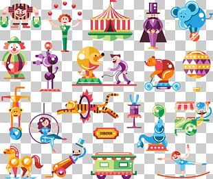 Flat Design Circus Carnival Illustration PNG