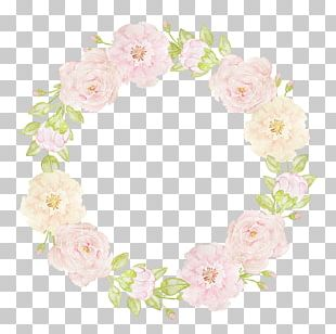 Floral Design Flower Watercolor Painting Garland PNG