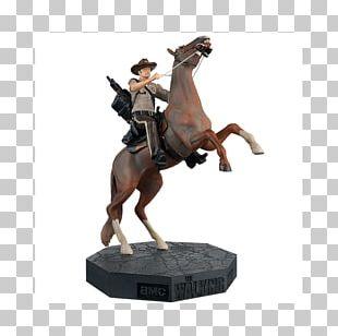 Rick Grimes Figurine Horse AMC Television PNG