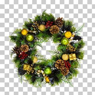 Wreath Christmas Santa Claus Garland PNG