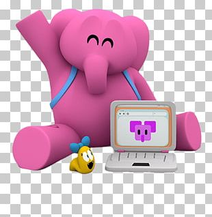 Elly Working On Computer PNG