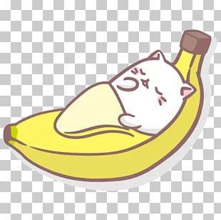 Cat Banana Peel Kavaii TMS Entertainment PNG