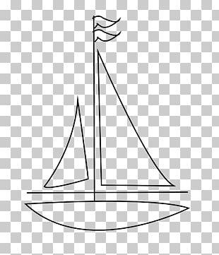 Drawing Sailboat Sailing Line Art PNG