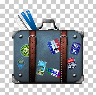 Suitcase Travel Airline Ticket Baggage Train PNG