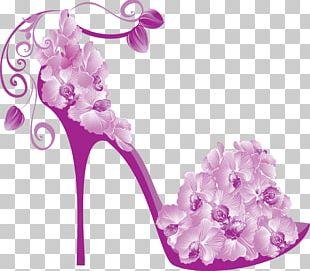 Graphics High-heeled Shoe Design PNG