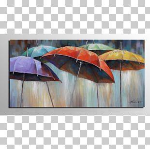 Umbrella Oil Painting Canvas Art PNG
