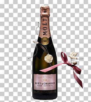 Champagne Wine Moët & Chandon Glass Bottle Rosé PNG