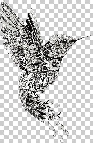 Hummingbird Mehndi Tattoo Mandala Henna PNG