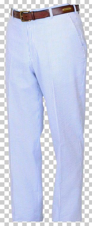 Cobalt Blue Waist Pants PNG
