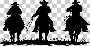 American Frontier Cowboys & Rodeo Silhouette PNG
