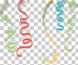 Cartoon Color Holiday Ribbon PNG