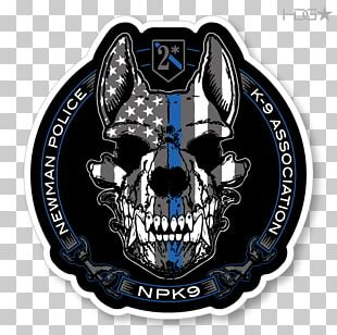Malinois Dog Police Dog Sticker Decal Thin Blue Line PNG