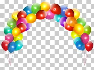 Balloon Birthday Cake Party PNG