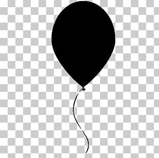 Balloon Drawing Black And White PNG