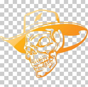 Cowboy Hat Skull Wall Decal PNG