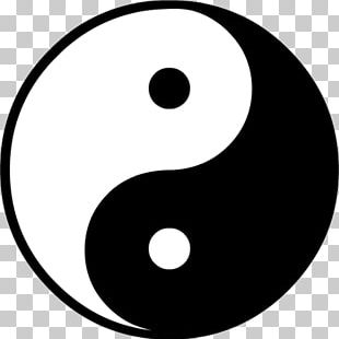 Yin And Yang Taijitu Symbol PNG