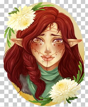 Floral Design Fairy Rose Family Hair Coloring PNG
