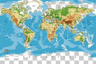 Nursery World Map Bedroom PNG