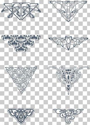 Art Nouveau Ornaments PNG