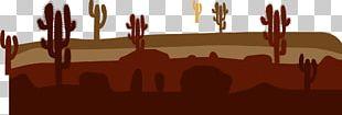 Cactus In The Desert Cactaceae Erg PNG