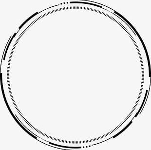 Ps Ink Ink Bamboo Technological Sense Geometric Circle PNG