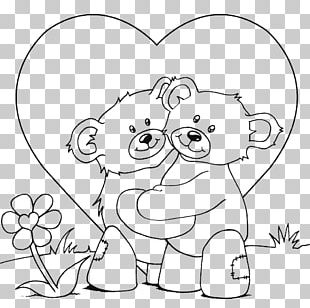 Coloring Book Teddy Bear Child Hug PNG
