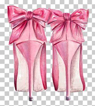 Fashion Illustration Chanel High-heeled Shoe PNG