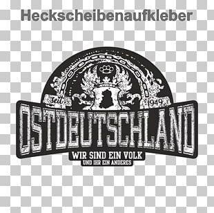 East Germany Wir Sind Ein Volk Sticker Label Advertising PNG