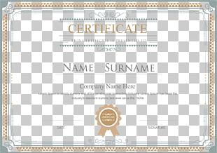 Academic Certificate Template Diploma Illustration PNG