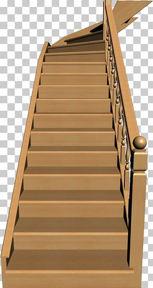 Hardwood Stairs Wood Stain Handrail PNG