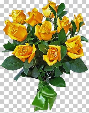 Rose Flower Bouquet Yellow Cut Flowers PNG