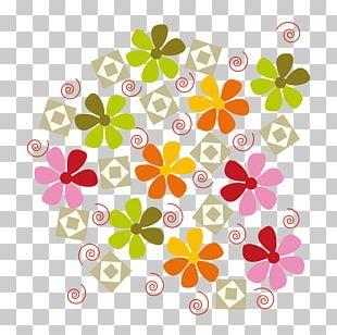 Flower Arranging Color Splash Leaf PNG