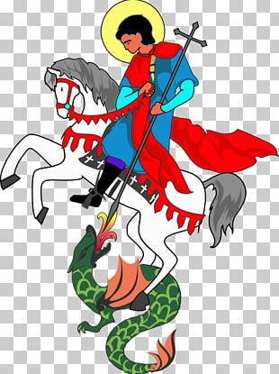 Saint George And The Dragon Saint Georges Day PNG