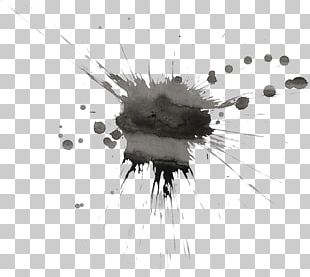 Watercolor Painting Art Black And White PNG