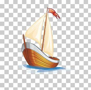Cartoon Sailing Ship PNG