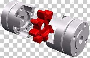 Jaw Coupling Dog Clutch Production Shaft PNG