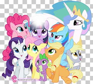 Rainbow Dash Twilight Sparkle Pinkie Pie Applejack Rarity PNG