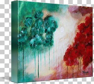 Modern Art Acrylic Paint Watercolor Painting Still Life Desktop PNG