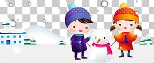 Child Snowman Illustration PNG