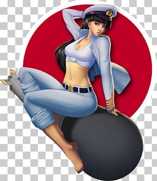 Pin-up Girl Cartoon Character Figurine PNG