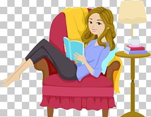 Reading Girl Book PNG